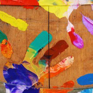 Paint handprint